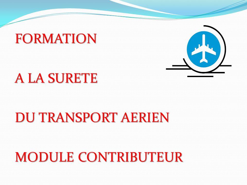FORMATION A LA SURETE DU TRANSPORT AERIEN MODULE CONTRIBUTEUR