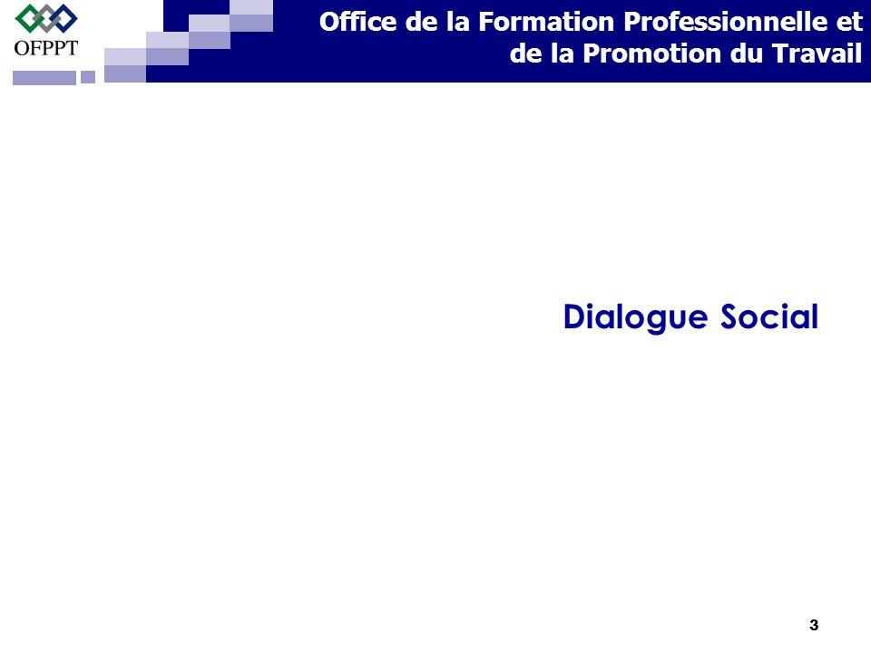 3 Dialogue Social Office de la Formation Professionnelle et de la Promotion du Travail