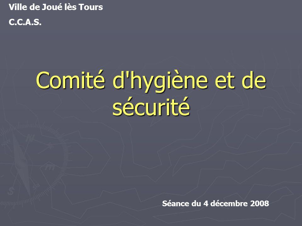 Comité d hygiène et de sécurité Ville de Joué lès Tours C.C.A.S. Séance du 4 décembre 2008