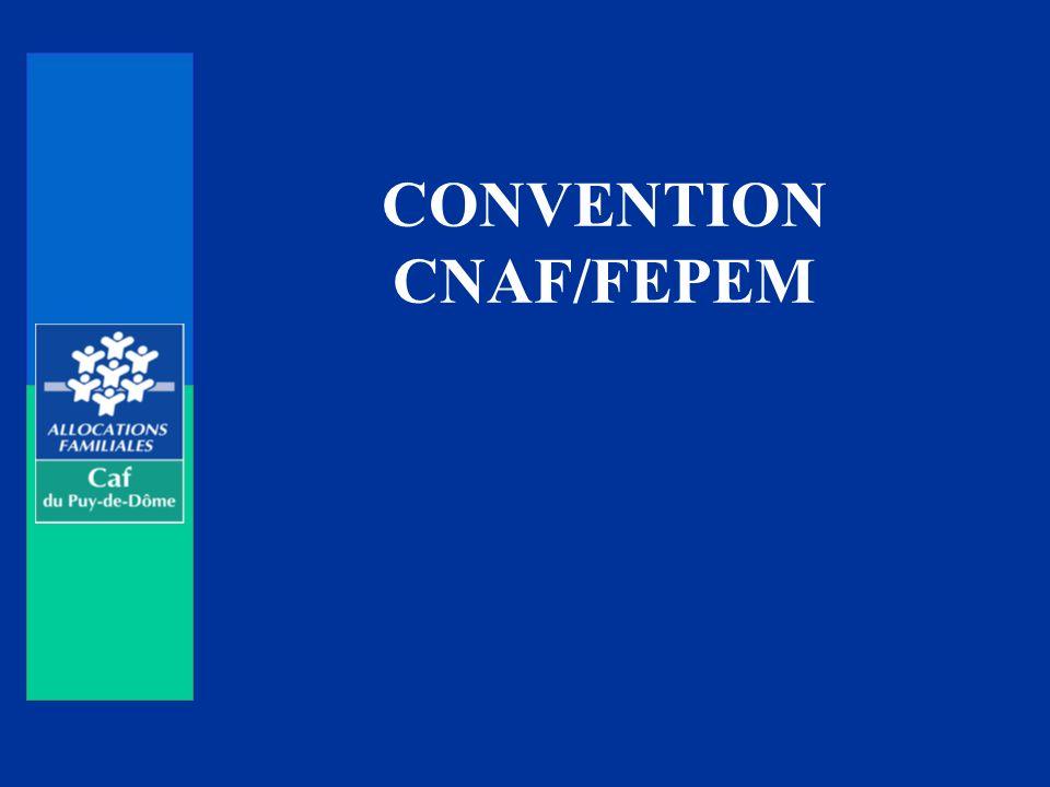 PREAMBULE Convention signée pour 3 ans le 25 mars 2009 par le directeur de la Caisse nationale des allocations familiales et la présidente de la Fédération des particuliers employeurs de France.