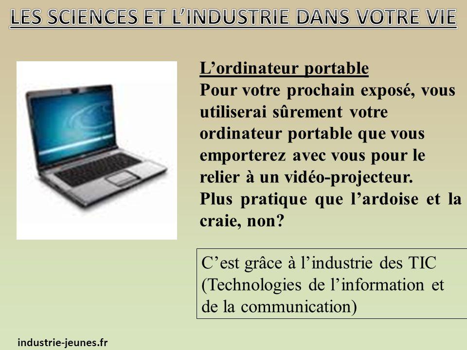 Lordinateur portable Pour votre prochain exposé, vous utiliserai sûrement votre ordinateur portable que vous emporterez avec vous pour le relier à un vidéo-projecteur.
