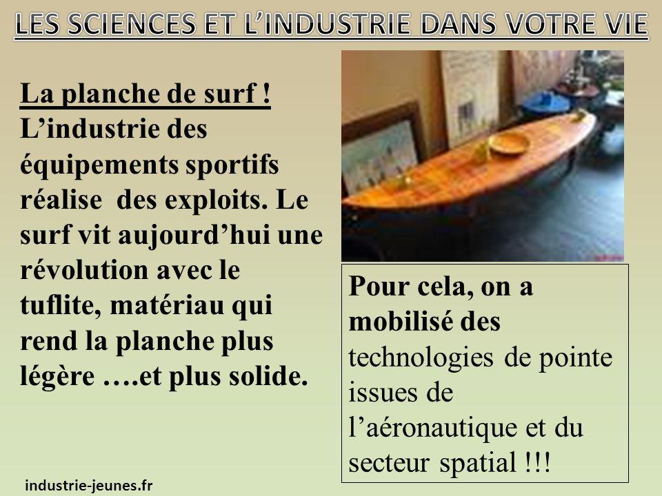 La planche de surf . Lindustrie des équipements sportifs réalise des exploits.
