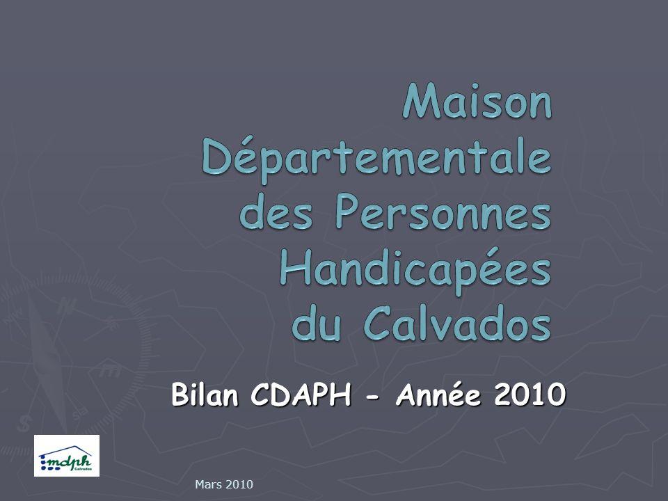 Bilan CDAPH - Année 2010 Mars 2010