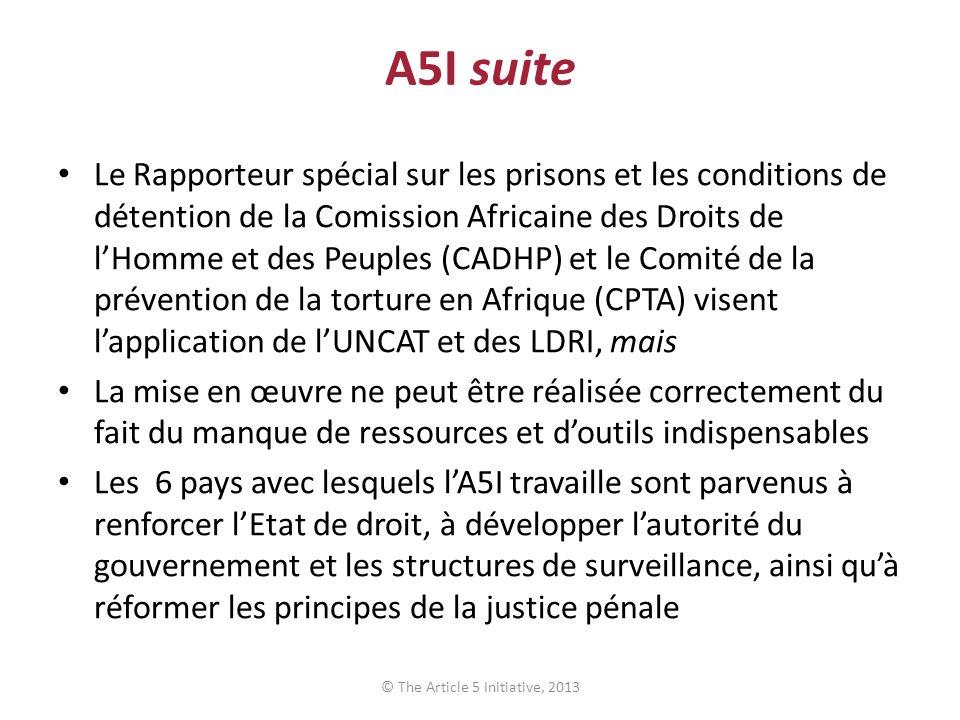 A5I suite Le Rapporteur spécial sur les prisons et les conditions de détention de la Comission Africaine des Droits de lHomme et des Peuples (CADHP) e
