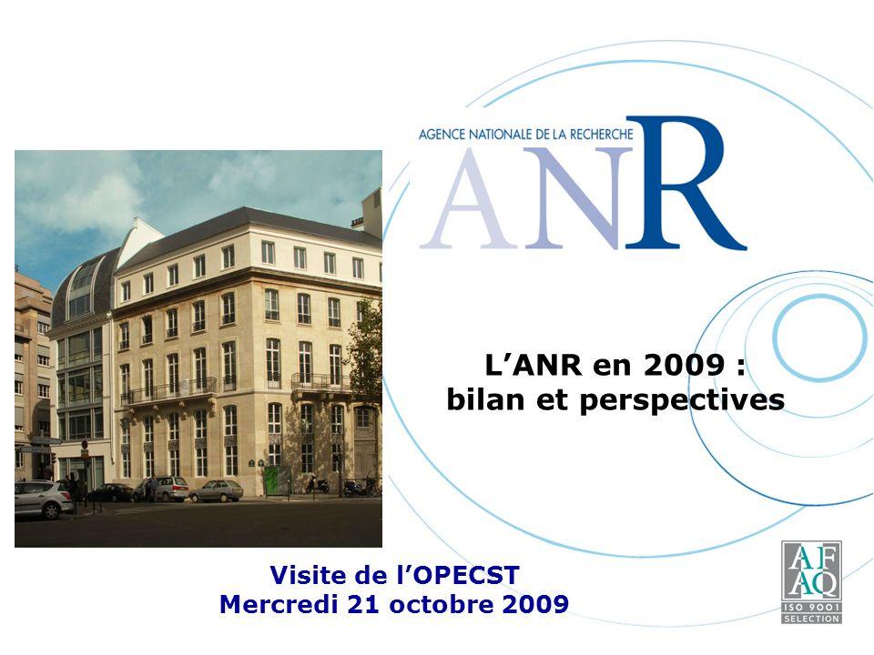 LANR en 2009 : bilan et perspectives Visite de lOPECST Mercredi 21 octobre 2009