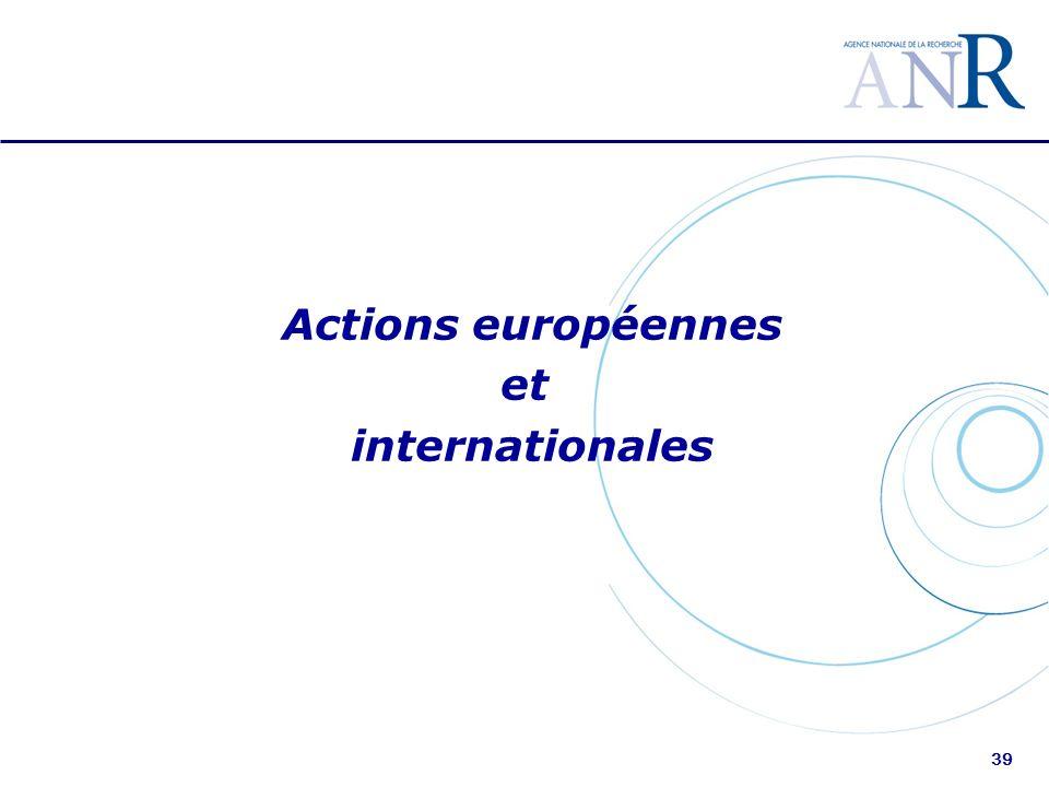 39 Actions européennes et internationales