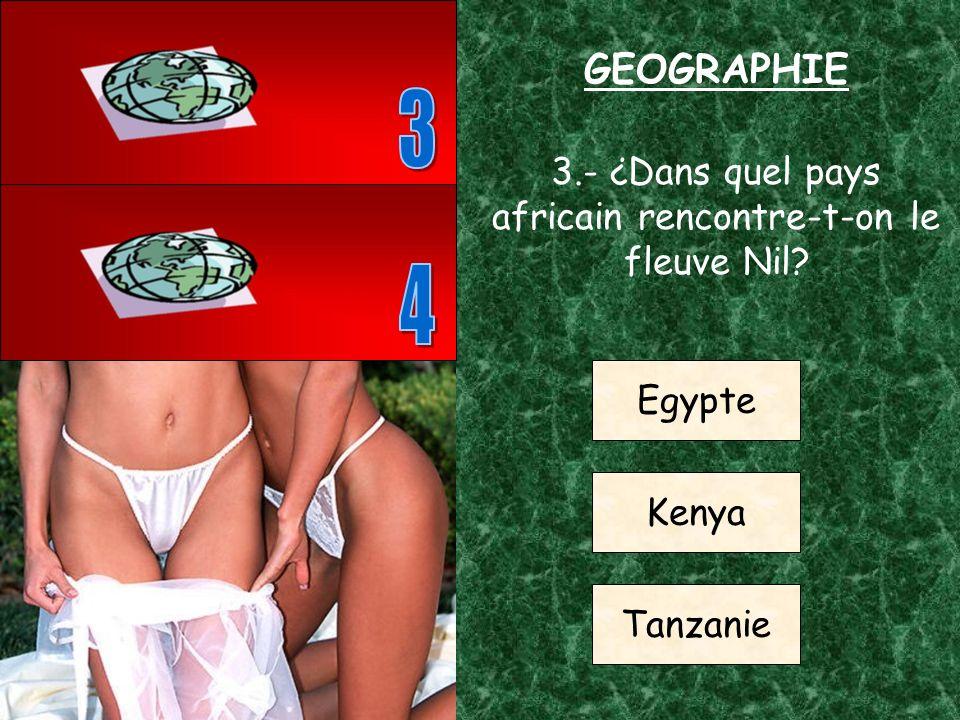 2.- ¿Sur quel continent se trouve le Brésil? Europe Océaníe Amérique du sud GEOGRAPHIE