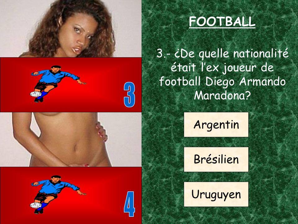 2.- ¿Dans quel club mythique joue le grand joueur Alfredo Di Stéfano.