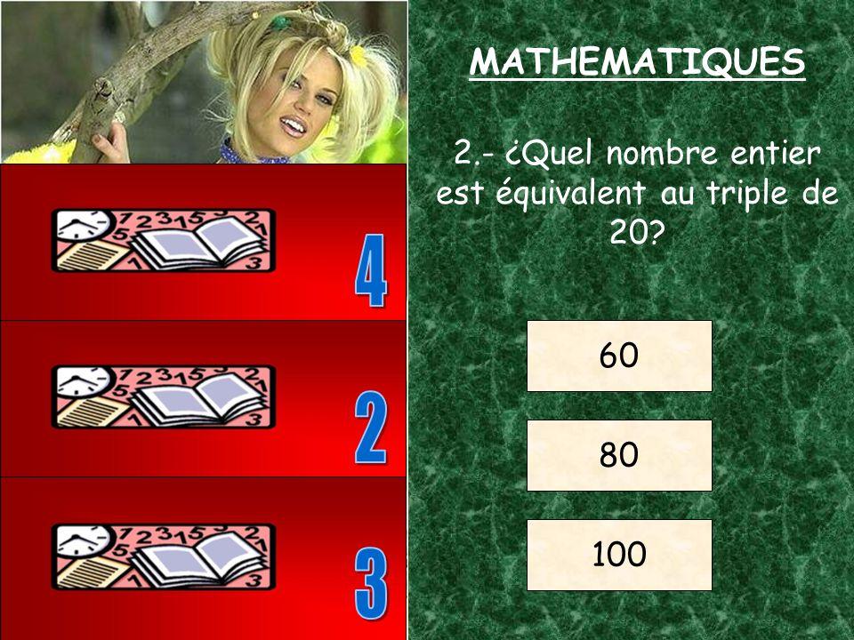 1.- ¿Quel est le résultat de cette simple opération? (3+2)x5 = ? ? = 7 ? = 25 ? = 30