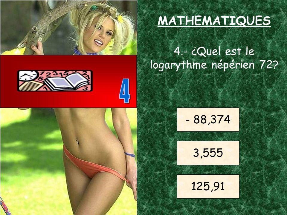 3.- ¿Quel est la valeur approchée du nombre PI? 3,1415 6,003 12,5 MATHEMATIQUES