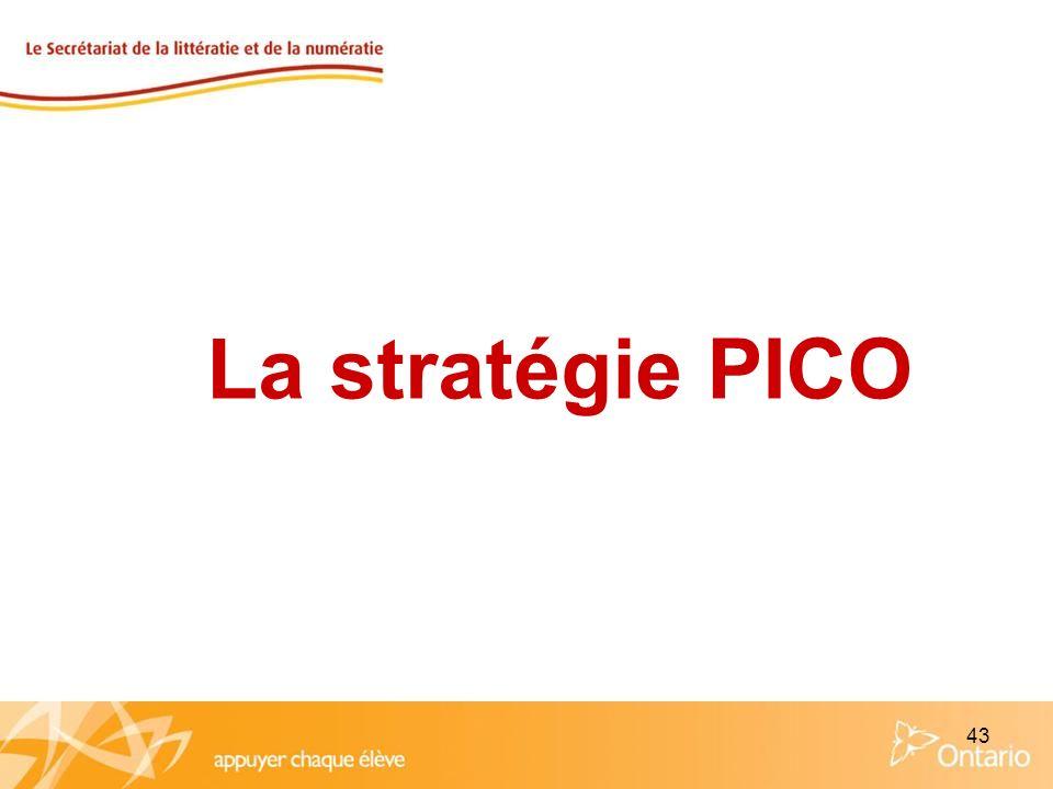 43 La stratégie PICO