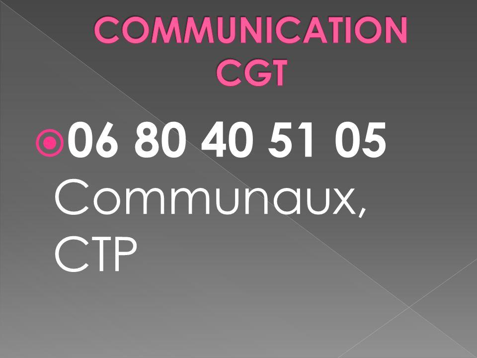 06 80 40 51 05 Communaux, CTP