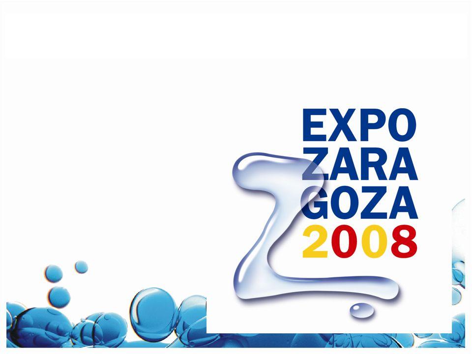 EXPO ZARAGOZA 2008 Leau et le développement durable 3.400 spectacles Cirque du soleil Homme versant Iceberg Spectacle de nuit Caravane