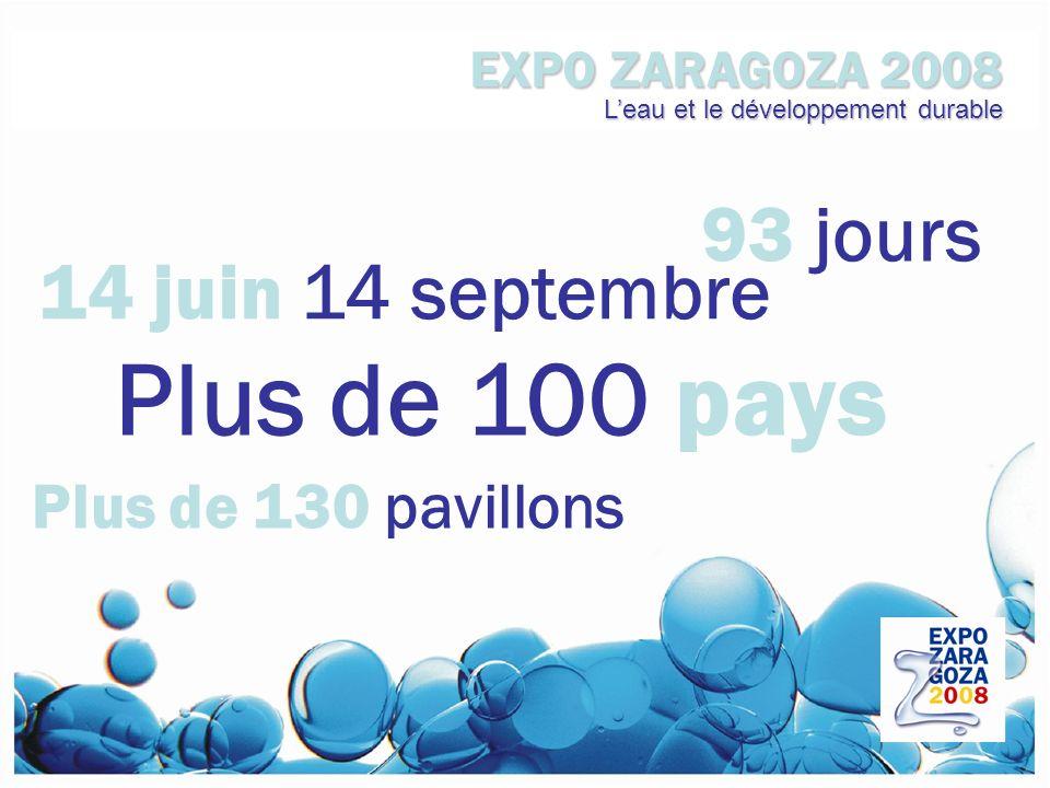 EXPO ZARAGOZA 2008 Leau et le développement durable Une exposition international Au cœur de Zaragoza