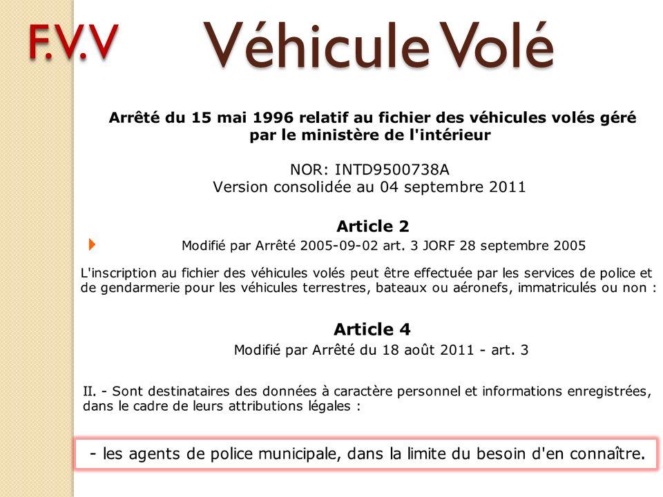 Véhicule Volé F.V.VF.V.V