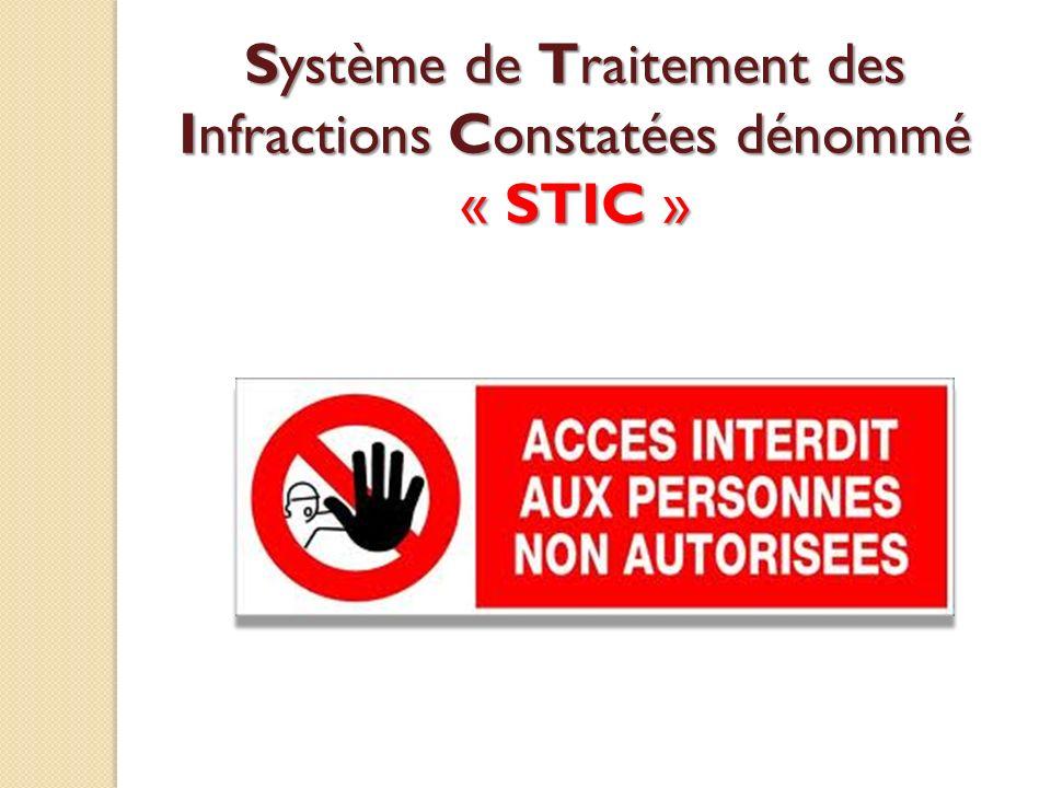 Système de Traitement des Infractions Constatées dénommé « STIC »