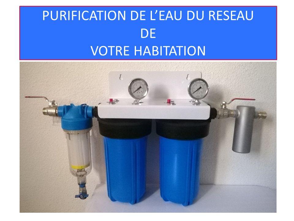 Deux vannes de sécurité sont incluses avec le système de filtration afin de pouvoir stopper la circulation de l eau à l intérieur de l appareil le jour du changement des filtres Vannes de sécurité