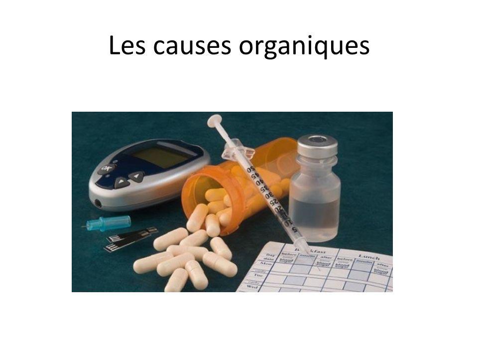 Les causes organiques