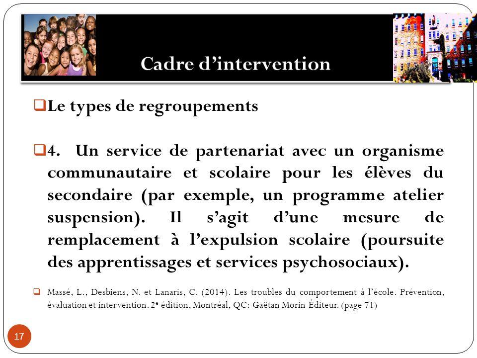 17 Le types de regroupements 4.