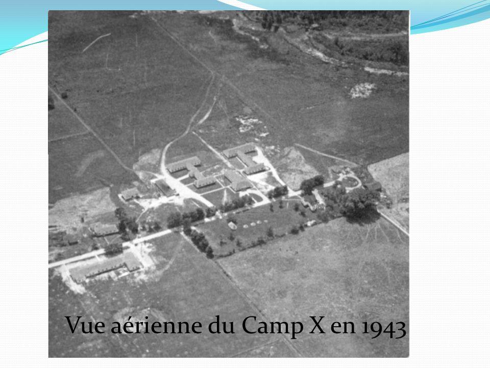 Vue aérienne du Camp X en 1943