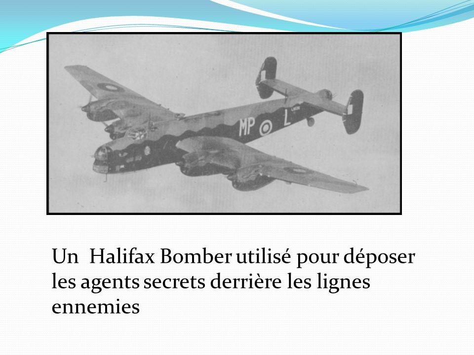 Un Halifax Bomber utilisé pour déposer les agents secrets derrière les lignes ennemies