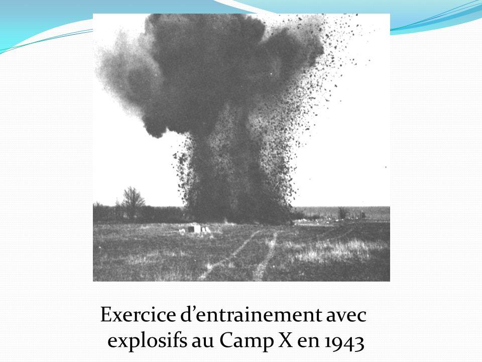 Exercice dentrainement avec explosifs au Camp X en 1943