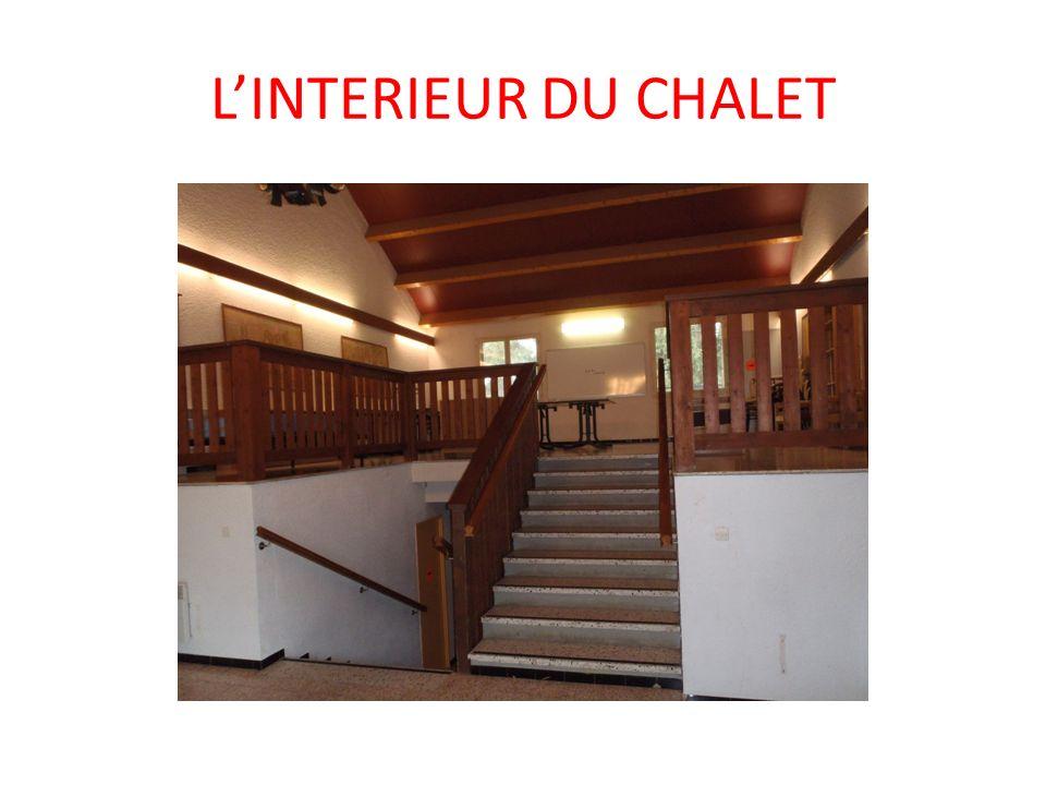 LINTERIEUR DU CHALET