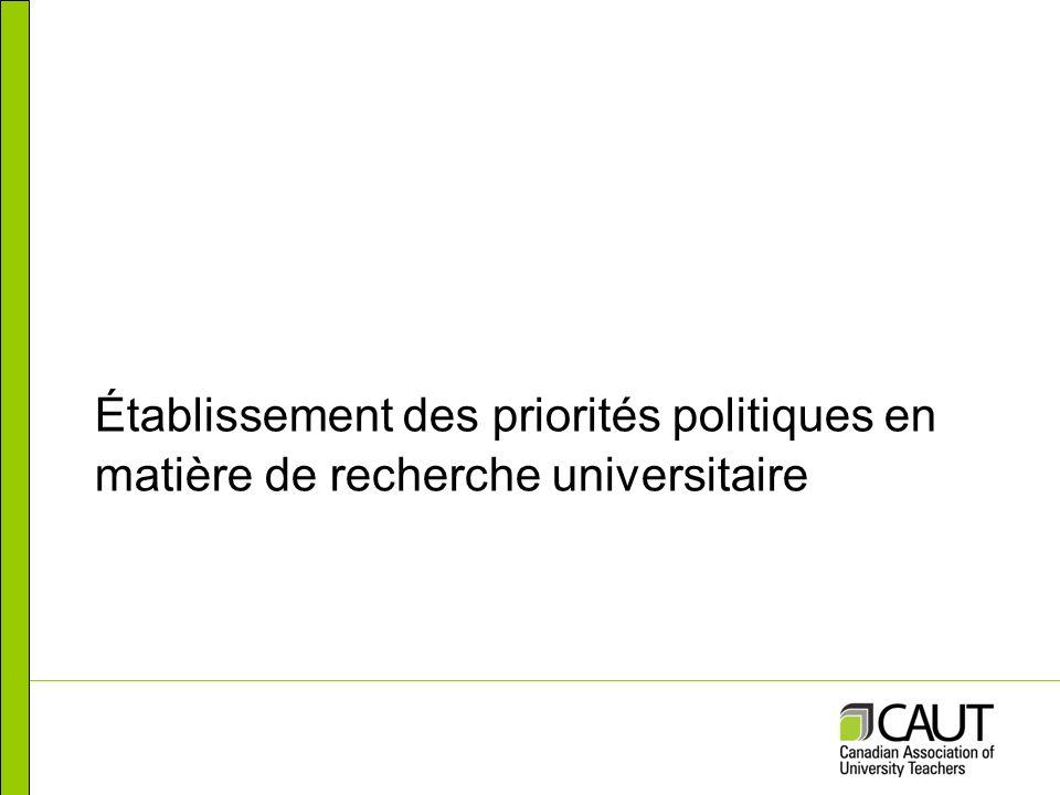 Établissement des priorités politiques en matière de recherche universitaire