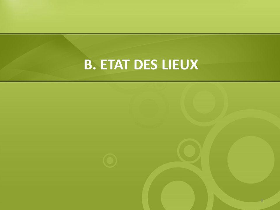 B. ETAT DES LIEUX 8