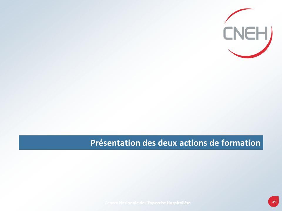 49 Centre Nationale de lExpertise Hospitalière Présentation des deux actions de formation