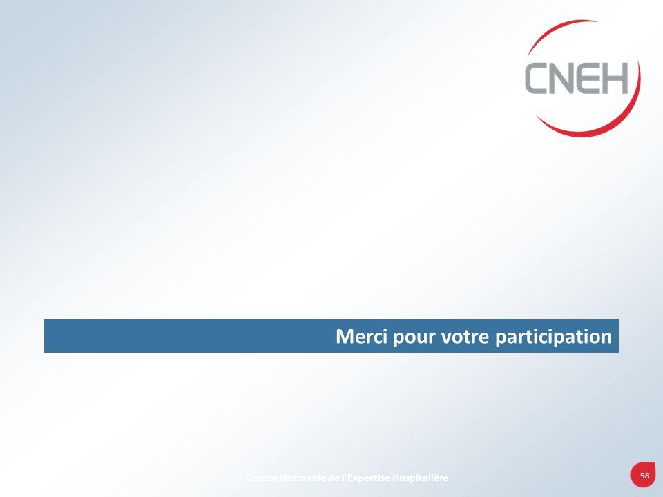 58 Centre Nationale de lExpertise Hospitalière Merci pour votre participation