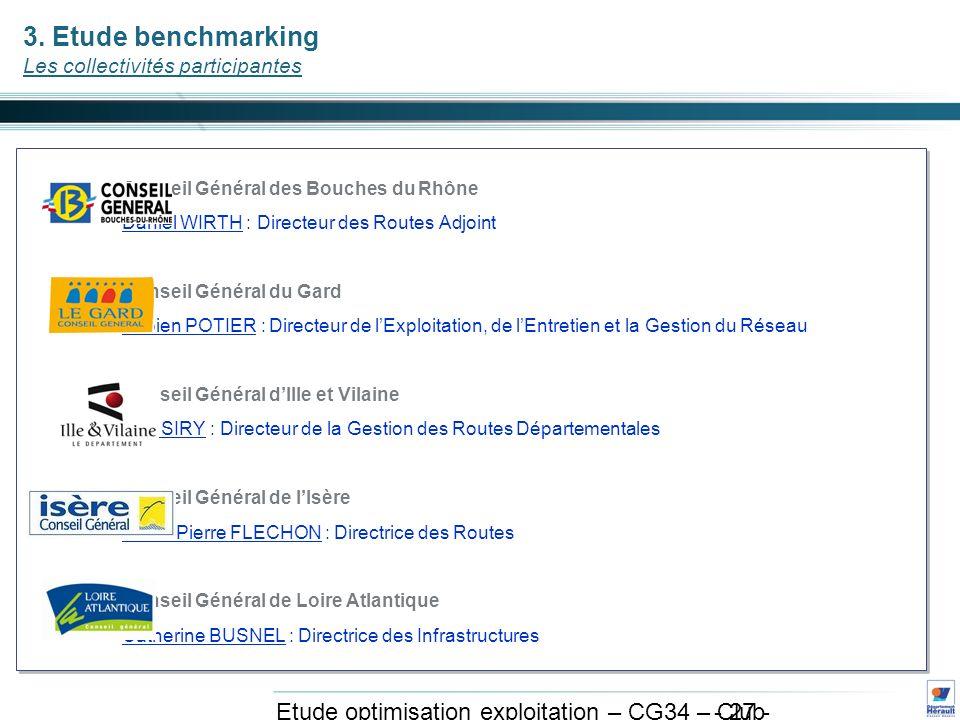 - 27 - Etude optimisation exploitation – CG34 – Club exploitation et système avril 2011 3.