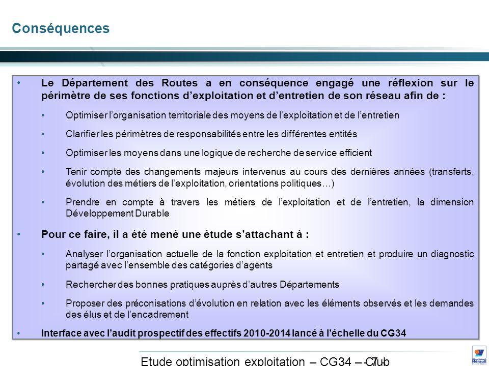 - 28 - Etude optimisation exploitation – CG34 – Club exploitation et système avril 2011 3.