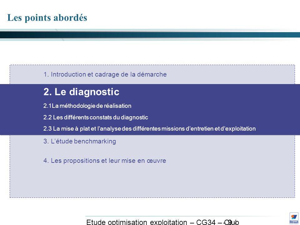 - 30 - Etude optimisation exploitation – CG34 – Club exploitation et système avril 2011 3.