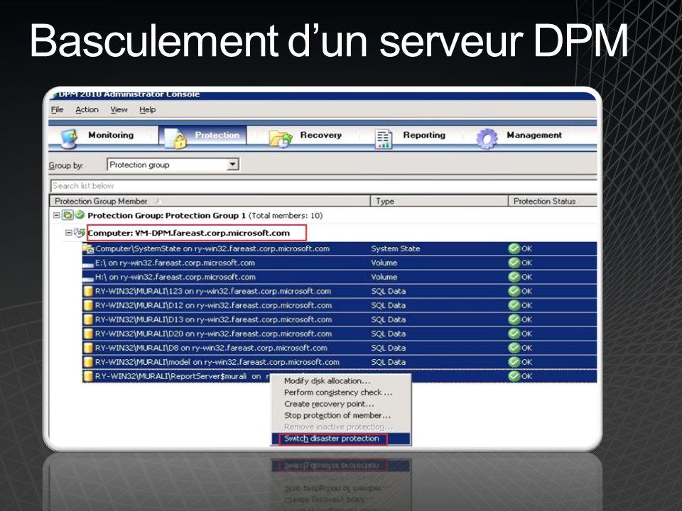 Basculement dun serveur DPM