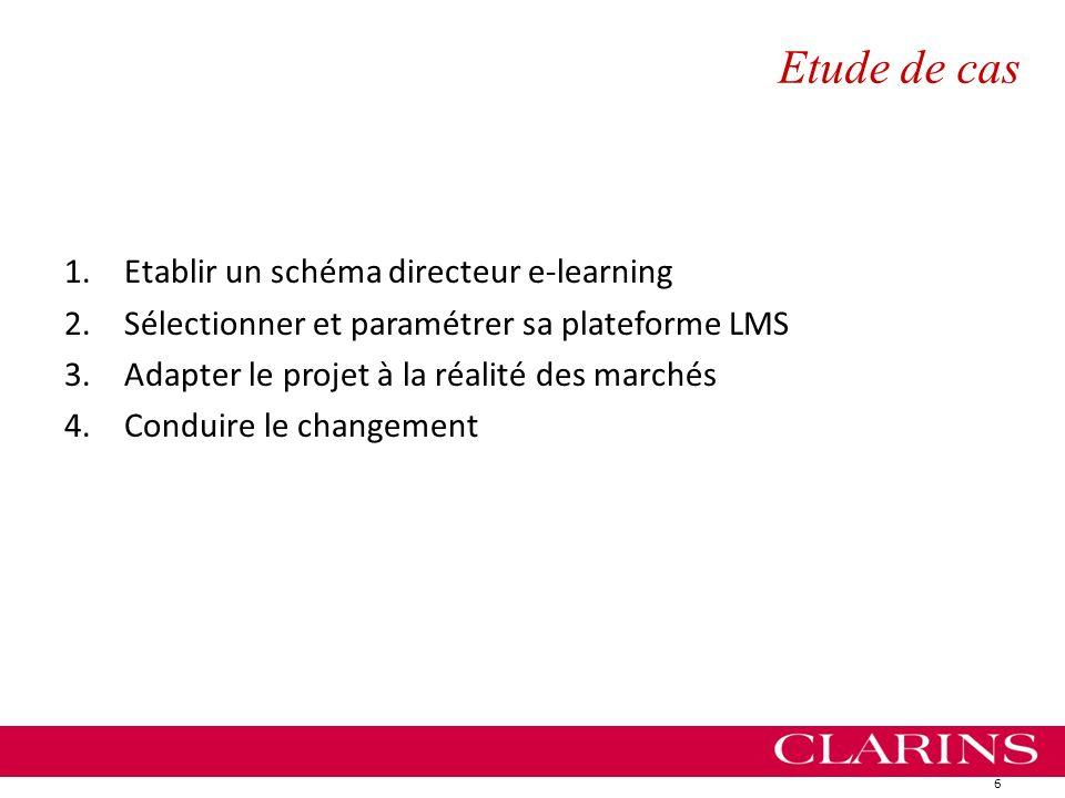 Etude de cas 1.Etablir un schéma directeur e-learning 2.Sélectionner et paramétrer sa plateforme LMS 3.Adapter le projet à la réalité des marchés 4.Co