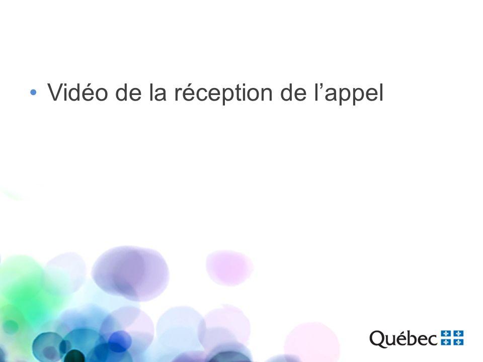 Vidéo de la réception de lappel