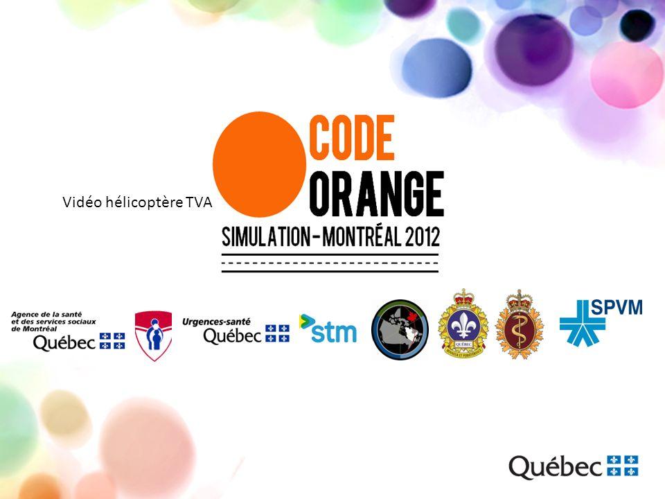 Activation du « code orange » Activation du code orange à 8 h 45 sur les sites de lHGM et lHME Ouverture des centres de coordination de lHGM et lHME à 8 h 55