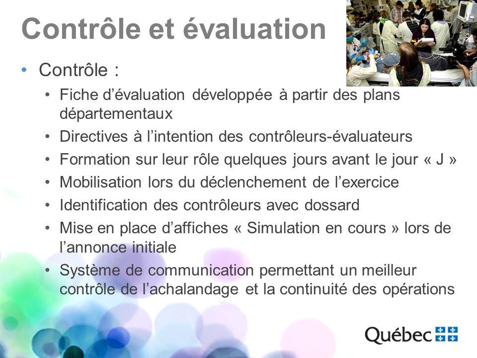 Contrôle et évaluation Contrôle : Fiche dévaluation développée à partir des plans départementaux Directives à lintention des contrôleurs-évaluateurs F