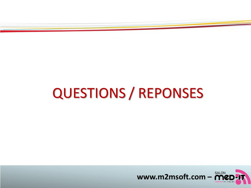 www.m2msoft.com – QUESTIONS / REPONSES