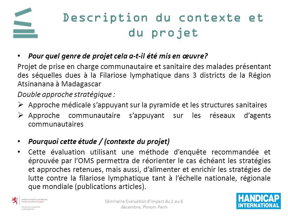 Description du contexte et du projet Pour quel genre de projet cela a-t-il été mis en œuvre.