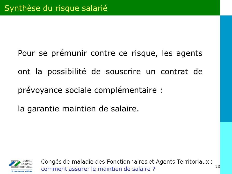 28 Congés de maladie des Fonctionnaires et Agents Territoriaux : comment assurer le maintien de salaire .