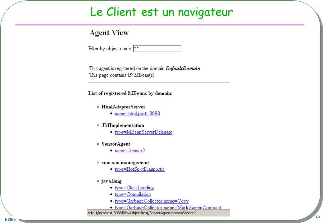 ESIEE 49 Le Client est un navigateur