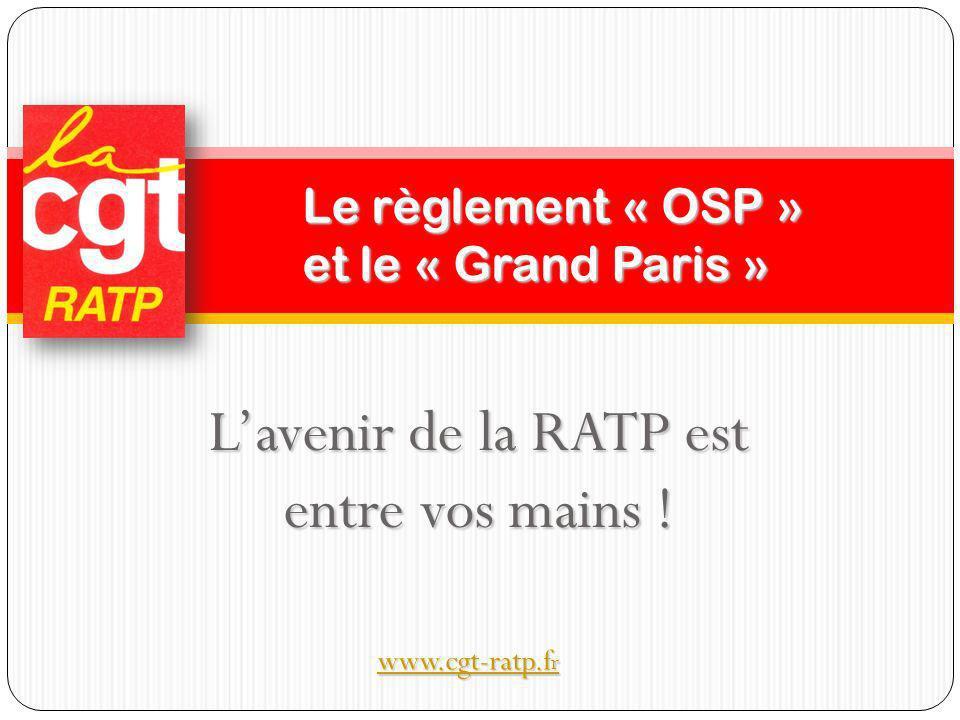 Application du règlement européen transports dit « règlement OSP » Le gouvernement français a décidé de mettre ce texte en application le 3 décembre 2009.
