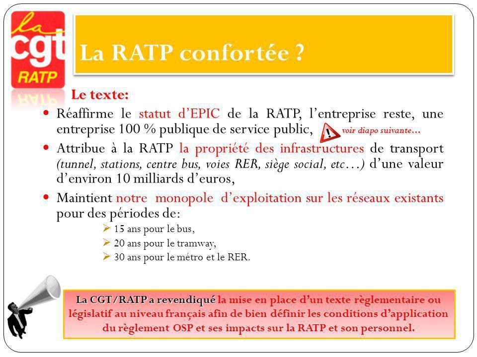 La RATP fragilisée .