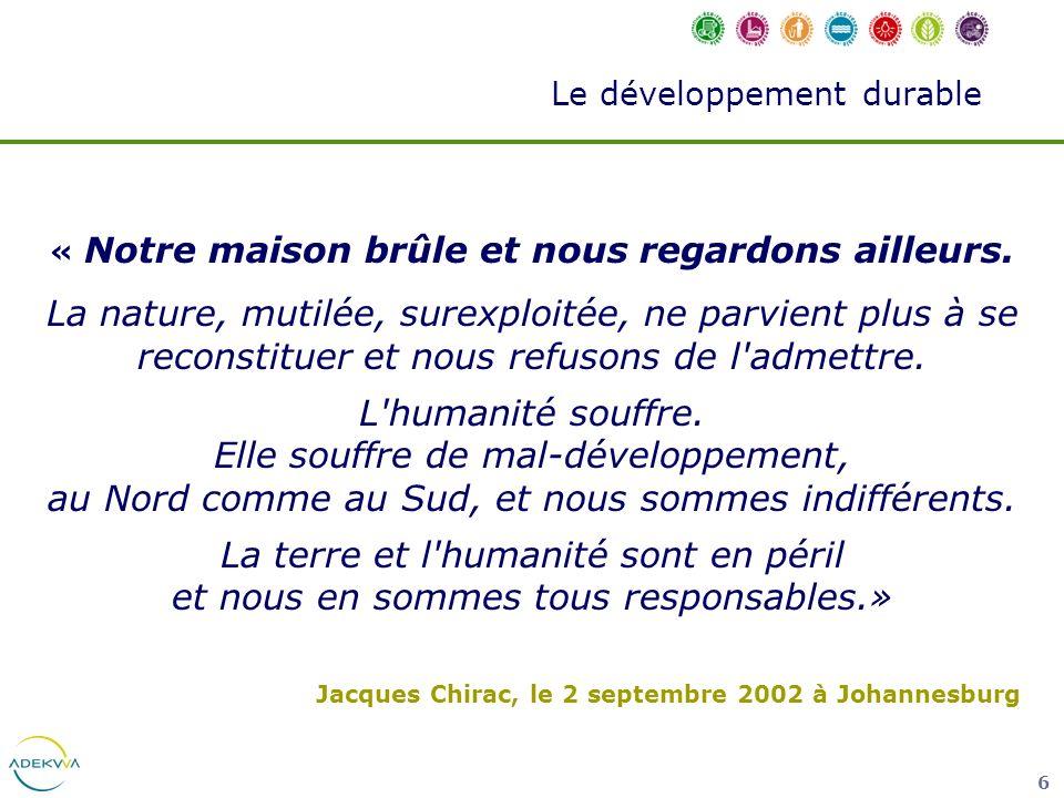 37 Le développement durable Les déchets QUESTION 10 Entre 1980 et 2000, de combien notre production de déchets ménagers a augmenté en France .