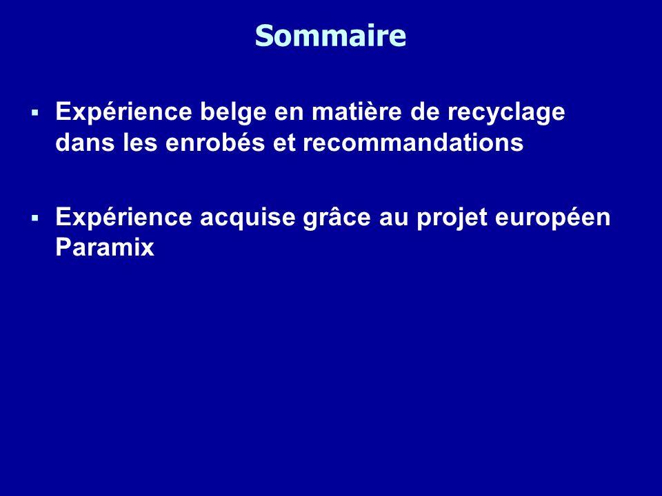 Paramix – recyclage à chaud Résistance à lorniérage Selon prEN12697-22 « large device » à 50°