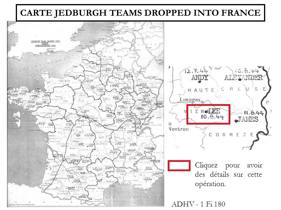 CARTE AMERICAINE DALTITUDE 1 Fi 176 7-8 juin 1944 : parachutage sur le terrain « ORANGE » au Clos près de Sussac.