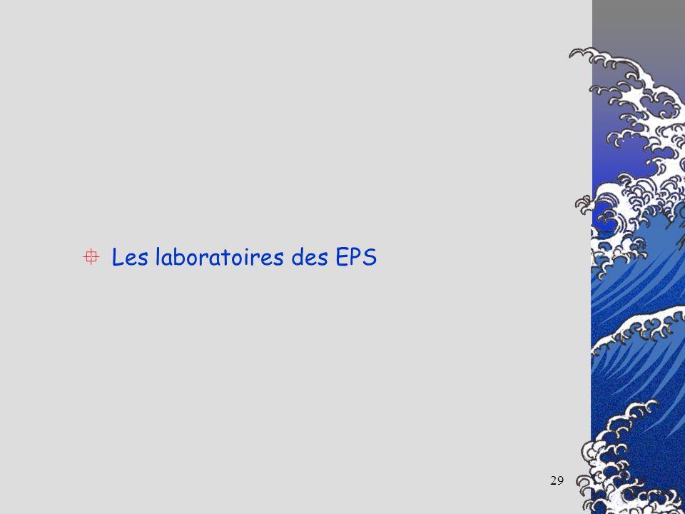29 Les laboratoires des EPS