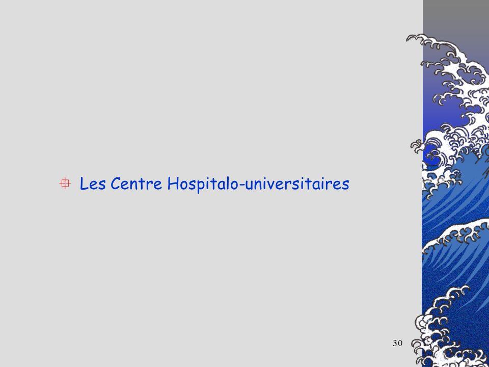 30 Les Centre Hospitalo-universitaires